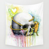 jake Wall Tapestries featuring Jake the Dog  by Olechka