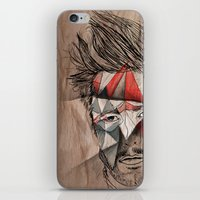 men iPhone & iPod Skins featuring Men by Mary Szulc