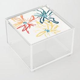 Gestural Blooms Acrylic Box