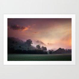 Surreal, romantic sunrise Art Print