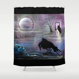 Nevermore Evermore  Shower Curtain