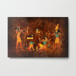 Ancient Egyptian Gods Metal Print