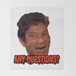 David S. Pumpkins - Any Questions? III Throw Blanket