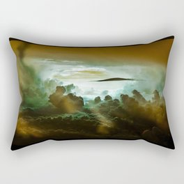 I Want To Believe - Gold Rectangular Pillow