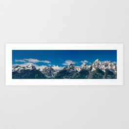 Grand Tetons Panorama Art Print