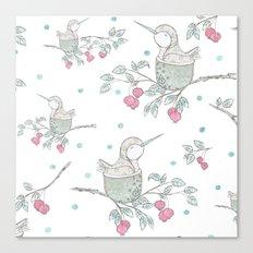 Hummingbird's Garden: Home Canvas Print