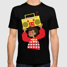 Trini Transistor  Black MEDIUM Mens Fitted Tee