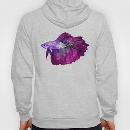 Pink Galaxy Betta Fish Hoody