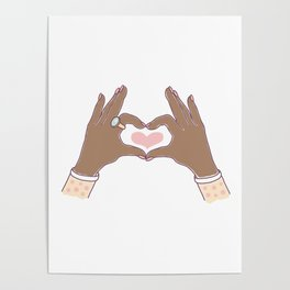 Hands Heart Shape Poster