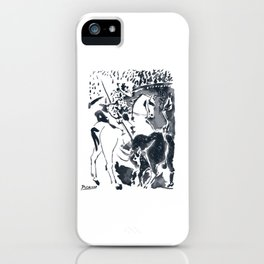 Pablo Picasso Picador II (Bullfighter) T Shirt, Aquatint Art iPhone Case