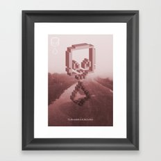 To Die Outside Is To Live In Here - Red Framed Art Print