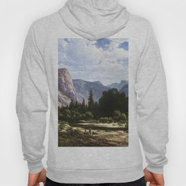 Resting By A Stream 1866 By Thomas Hill | Reproduction Hoody
