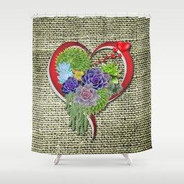 Succulent-lovers Garden Plant Shower Curtain