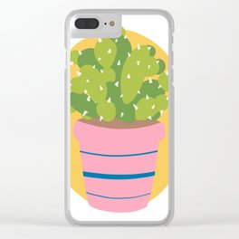 Cacti dude Clear iPhone Case