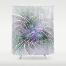 Abstract Floral Fractal Art Shower Curtain