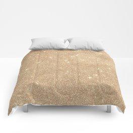 Gold Glitter Chic Glamorous Sparkles Comforters