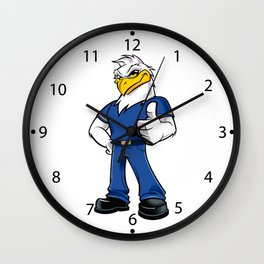 Humanoid Eagle with clothes and shoes Wall Clock