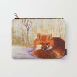 Red fox small nap | Renard roux petite sieste Carry-All Pouch