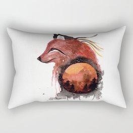 Tetrad the Bloodmoon Fox Rectangular Pillow