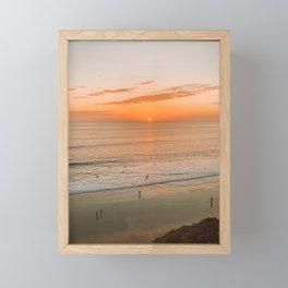 Ocean Sunset in California Framed Mini Art Print