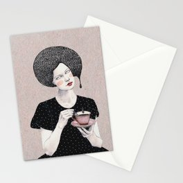 Nina in black Stationery Cards