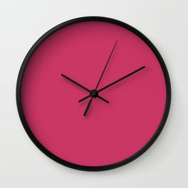 From The Crayon Box – Jazzberry Jam - Bright Pink Purple Solid Color Wall Clock
