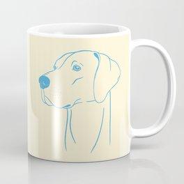 Weimaraner (Beige and Blue) Coffee Mug