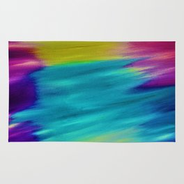 ETHEREAL SKY - Large Abstract Sky Oil Painting Rug