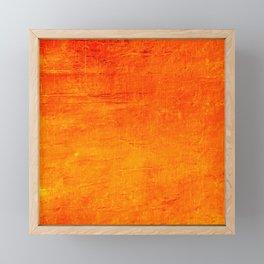 Orange Sunset Textured Acrylic Painting Framed Mini Art Print