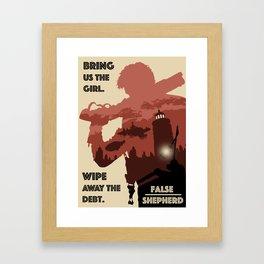 """""""False Shepherd"""" BioShock Infinite Framed Art Print"""