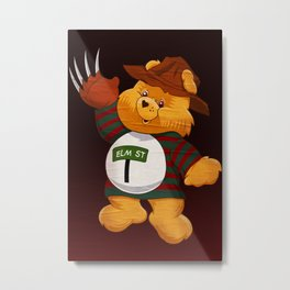 Freddy Scare Bear Metal Print