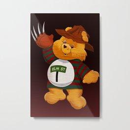 Freddy Scare Bear Metal Print