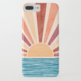 Warm Sunset on the Ocean  iPhone Case