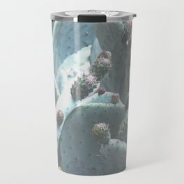 Green Flowering Cacti Travel Mug