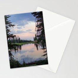 Summit Lake Colorado // Peaceful Alpine Sunset Stationery Cards