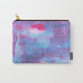 Crimson Clover, Abstract Monoprint Painting Carry-All Pouch