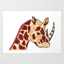 Rhinoceraffe Art Print