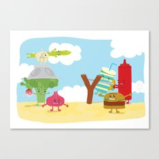 Vegetables vs. Fast food Canvas Print