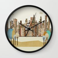 montreal Wall Clocks featuring montreal by bri.buckley