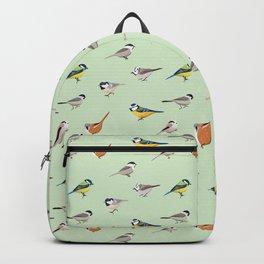 Tit Bird Pattern Birdwatching Animal Birder Gift Backpack