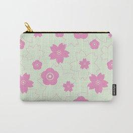 Sakura blossom - spring green Carry-All Pouch