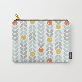 Mid Century Modern Retro Leaf and Circle Pattern Carry-All Pouch