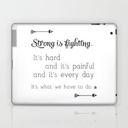 Strong Is Fighting Laptop & iPad Skin