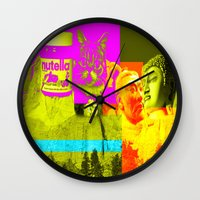 rushmore Wall Clocks featuring Mountain Rushmore  by Latidra Washington