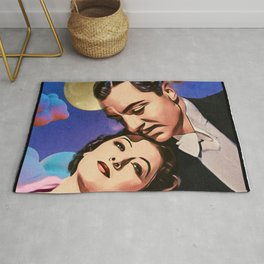 Nick and Nora, Moon, Clouds and Toothbrush Quote Rug