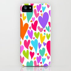 Cute colorful heart Slim Case iPhone (5, 5s)