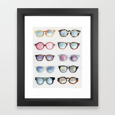 Glasses Framed Art Print