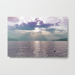 Kiss in the Lake Metal Print