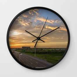 The Hunted Sunset Wall Clock