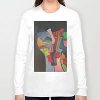 faces Long Sleeve T-shirts featuring faces by loomy